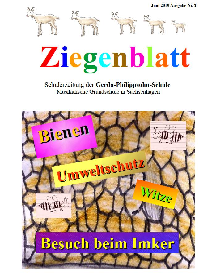 Das Ziegenblatt Ausgabe 2 – Die Schülerzeitung der Gerda-Philippsohn-Schule