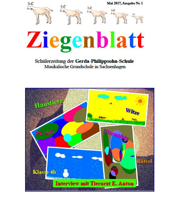 Das Ziegenblatt Ausgabe 1 – Die Schülerzeitung der Gerda-Philippsohn-Schule