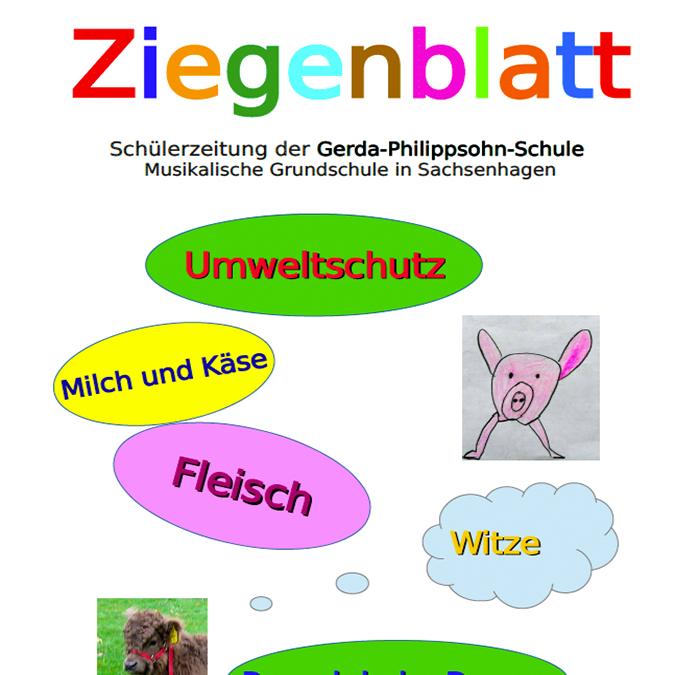 Das Ziegenblatt Ausgabe 3 – Die Schülerzeitung der Gerda-Philippsohn-Schule